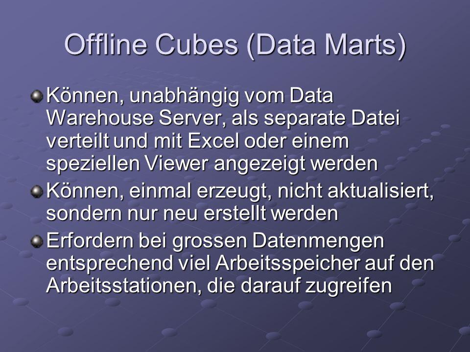Offline Cubes (Data Marts)