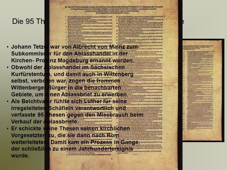 Die 95 Thesen: Disputatio de indulgentiarum virtute