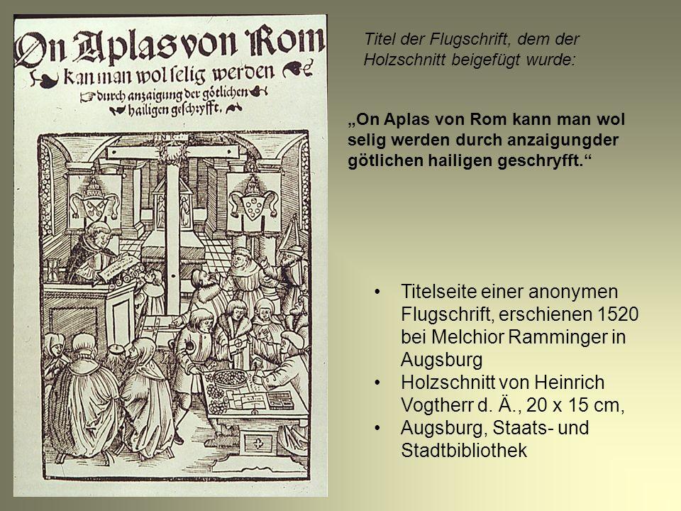 Holzschnitt von Heinrich Vogtherr d. Ä., 20 x 15 cm,