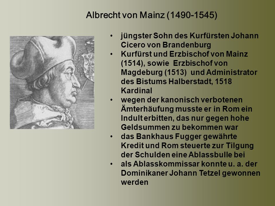 jüngster Sohn des Kurfürsten Johann Cicero von Brandenburg
