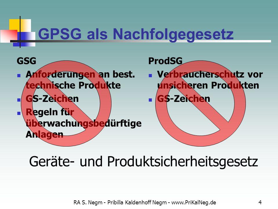 GPSG als Nachfolgegesetz
