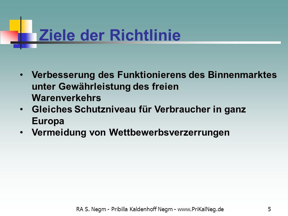 RA S. Negm - Pribilla Kaldenhoff Negm - www.PriKalNeg.de