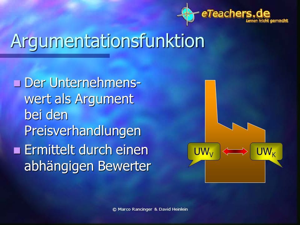 Argumentationsfunktion