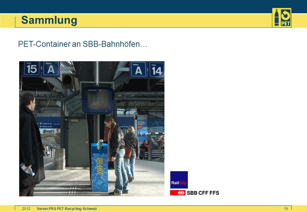 Sammlung PET-Container an SBB-Bahnhöfen… 2012