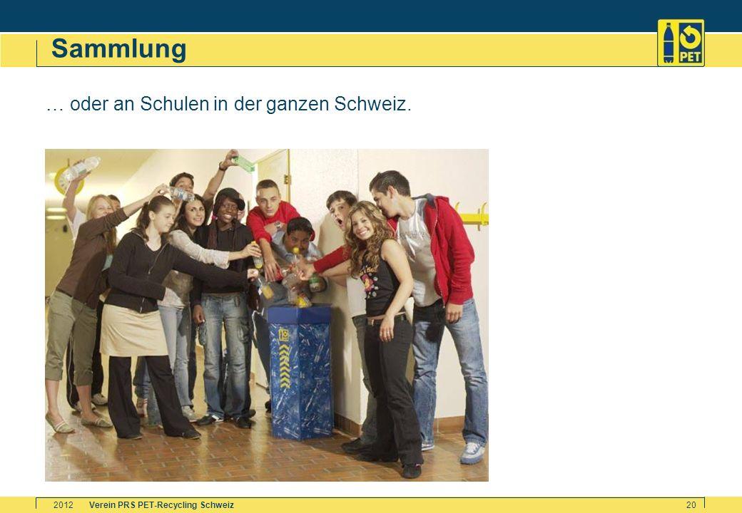 Sammlung … oder an Schulen in der ganzen Schweiz. 2012
