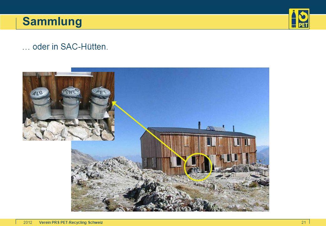 Sammlung … oder in SAC-Hütten. 2012