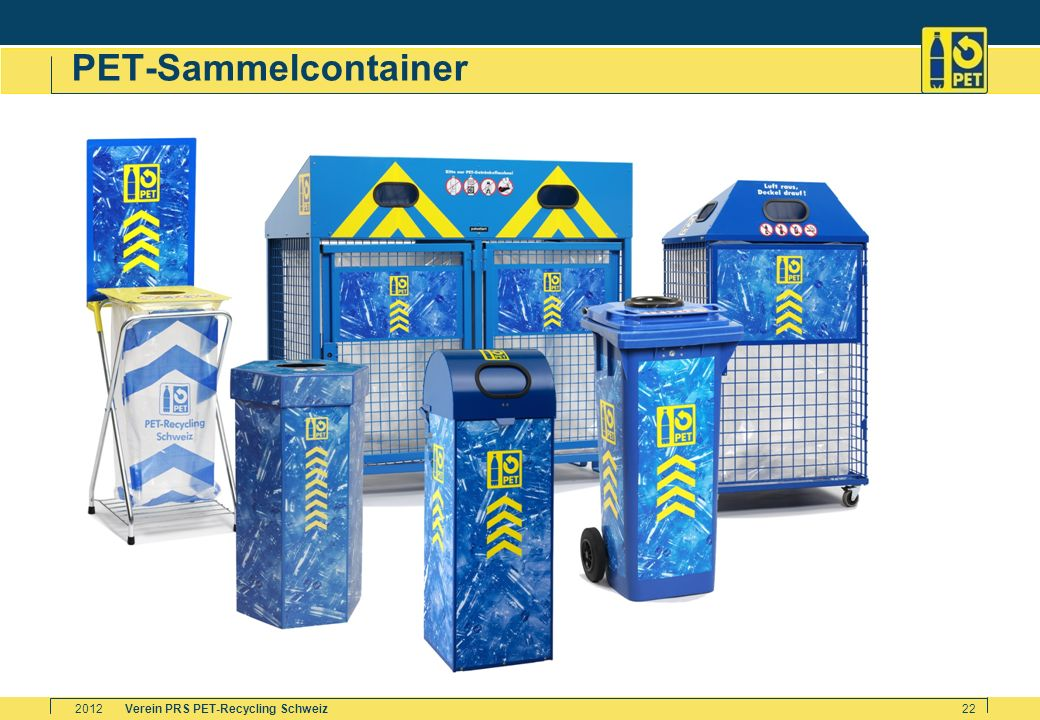 PET-Sammelcontainer 2012