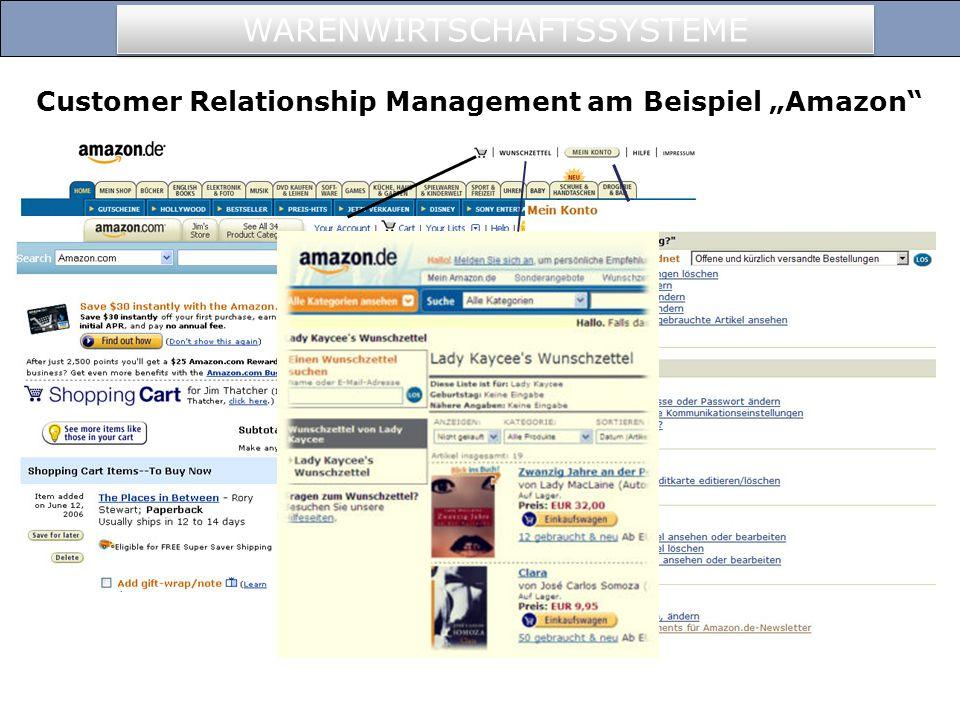 """Customer Relationship Management am Beispiel """"Amazon"""