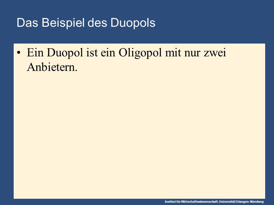 Das Beispiel des Duopols