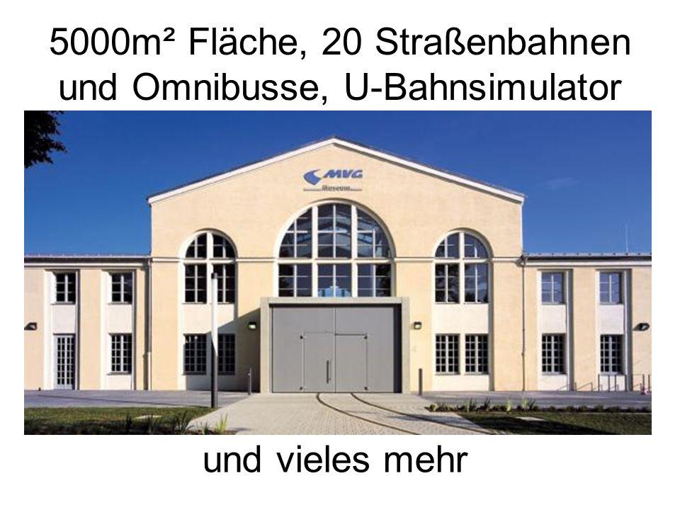 5000m² Fläche, 20 Straßenbahnen und Omnibusse, U-Bahnsimulator