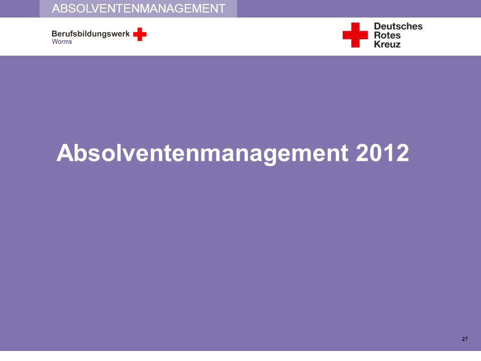 Absolventenmanagement 2012