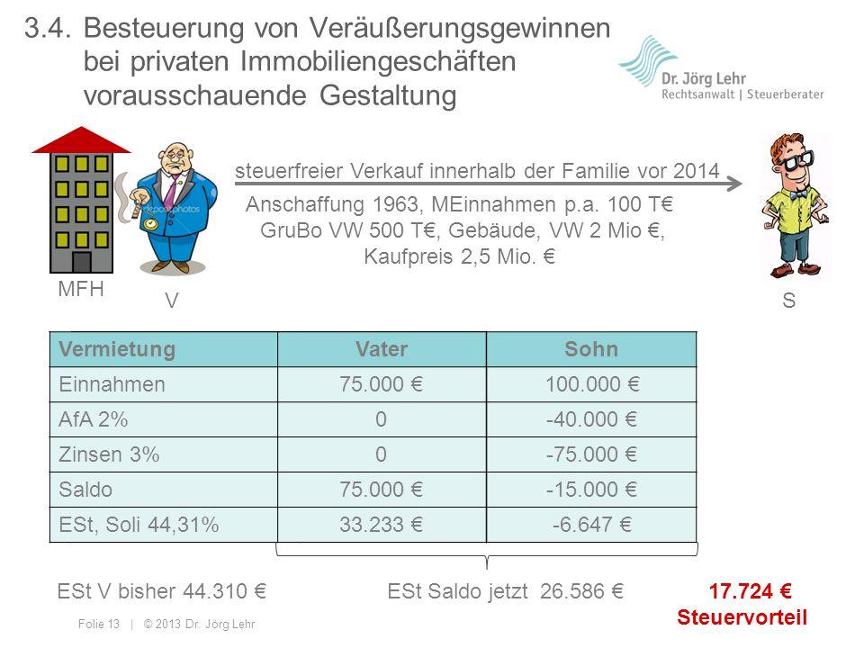 3. 4. Besteuerung von Veräußerungsgewinnen
