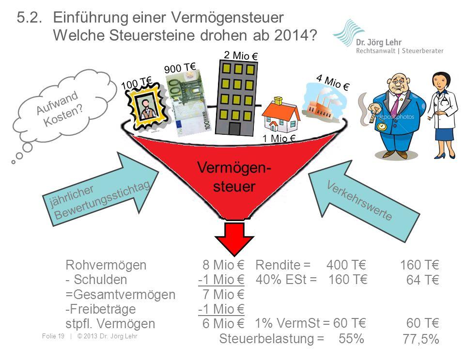 5. 2. Einführung einer Vermögensteuer