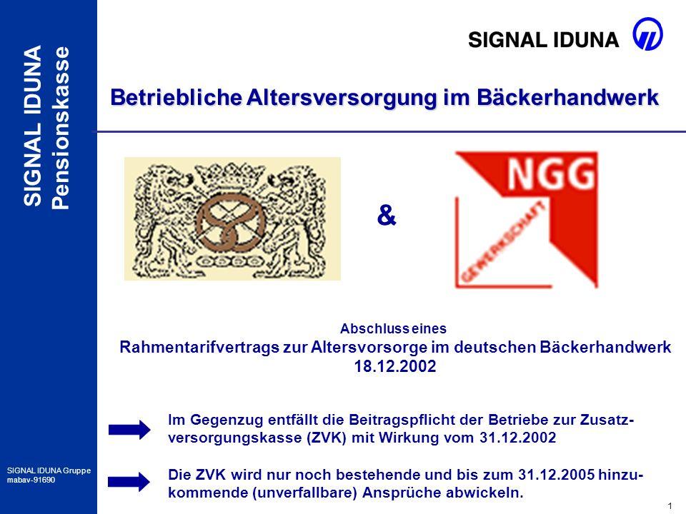 Rahmentarifvertrags zur Altersvorsorge im deutschen Bäckerhandwerk