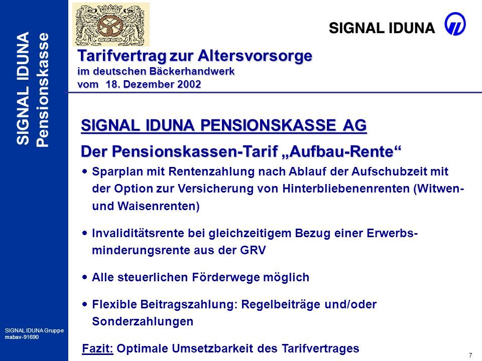SIGNAL IDUNA PENSIONSKASSE AG