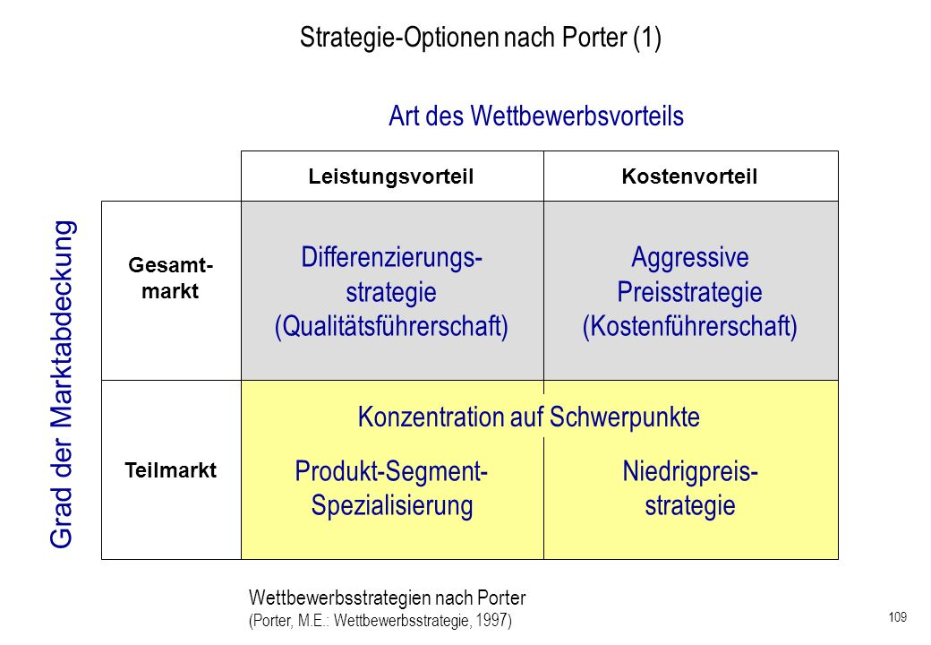 Strategie-Optionen nach Porter (1)