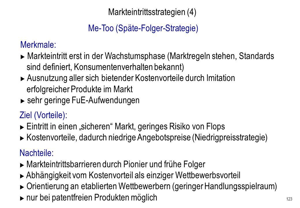 Markteintrittsstrategien (4)