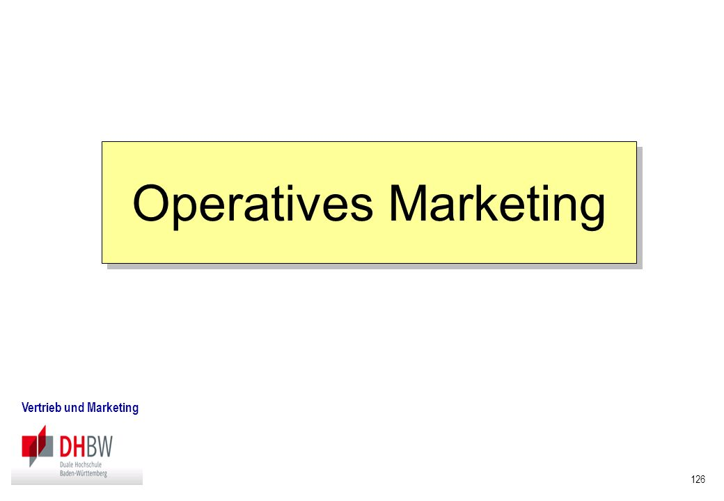 Operatives Marketing Vertrieb und Marketing