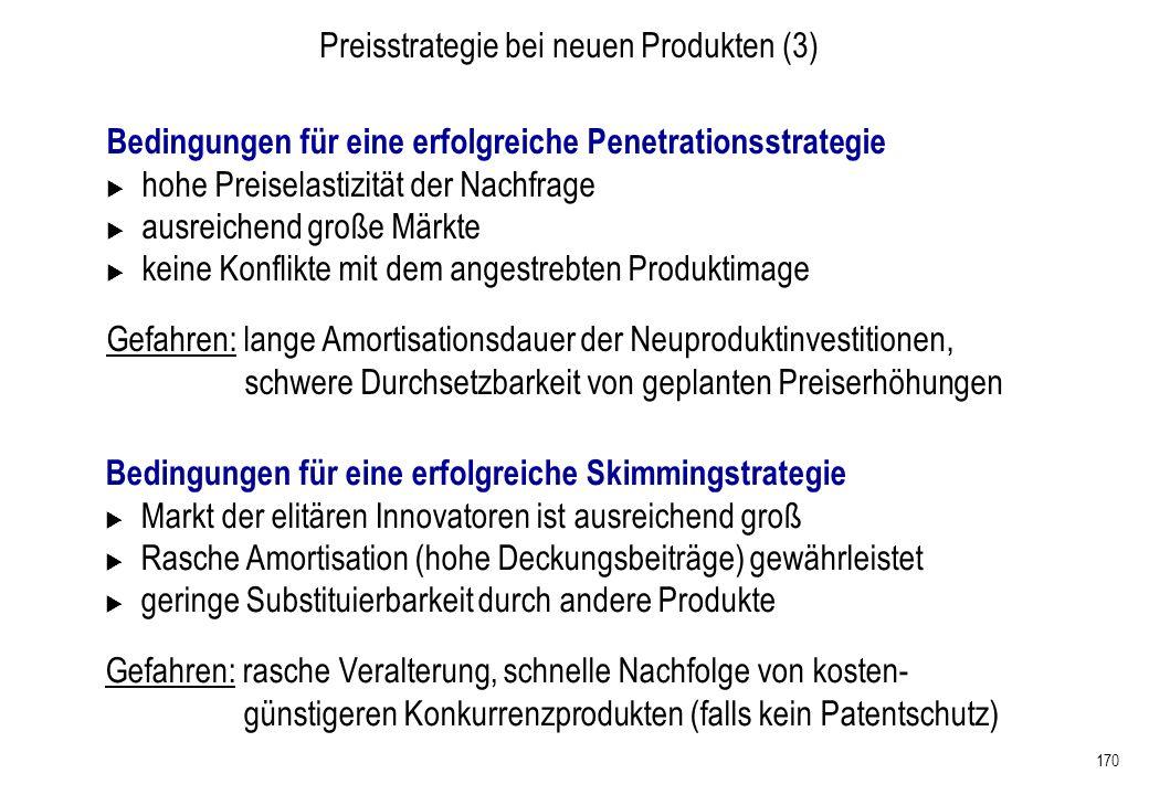 Preisstrategie bei neuen Produkten (3)