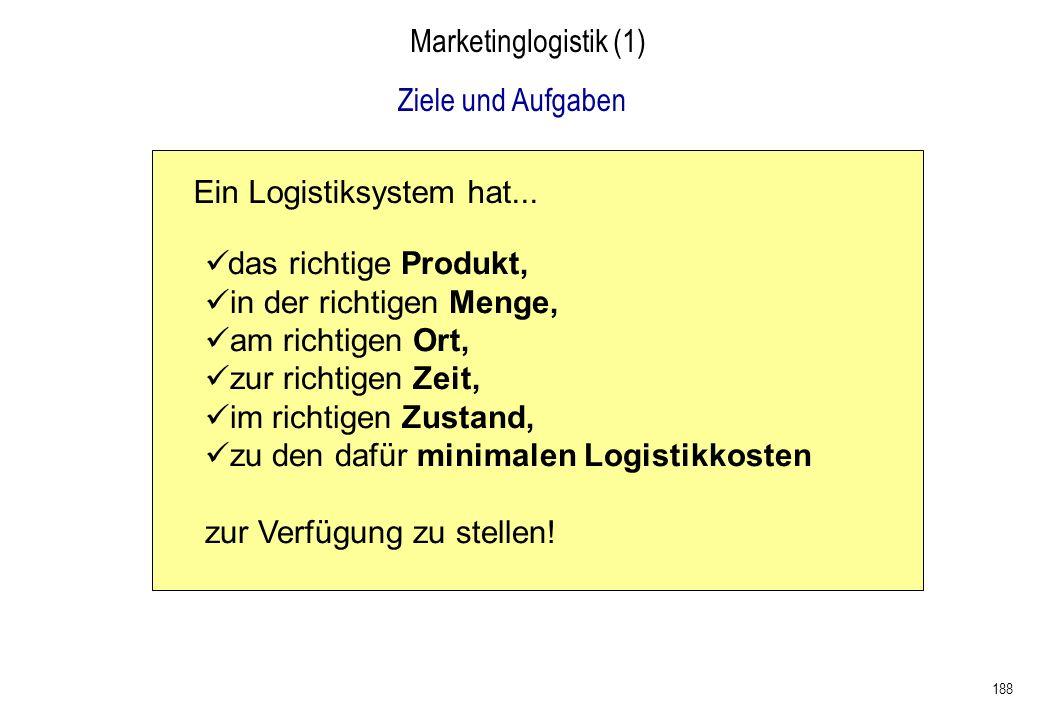 Ein Logistiksystem hat...