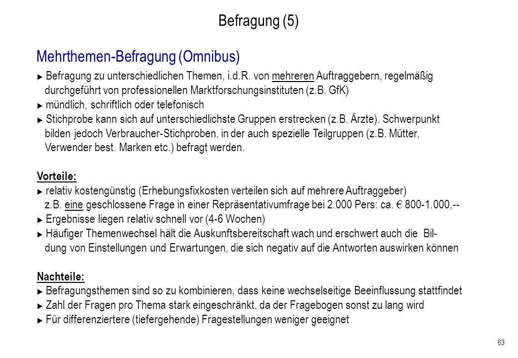 Mehrthemen-Befragung (Omnibus)