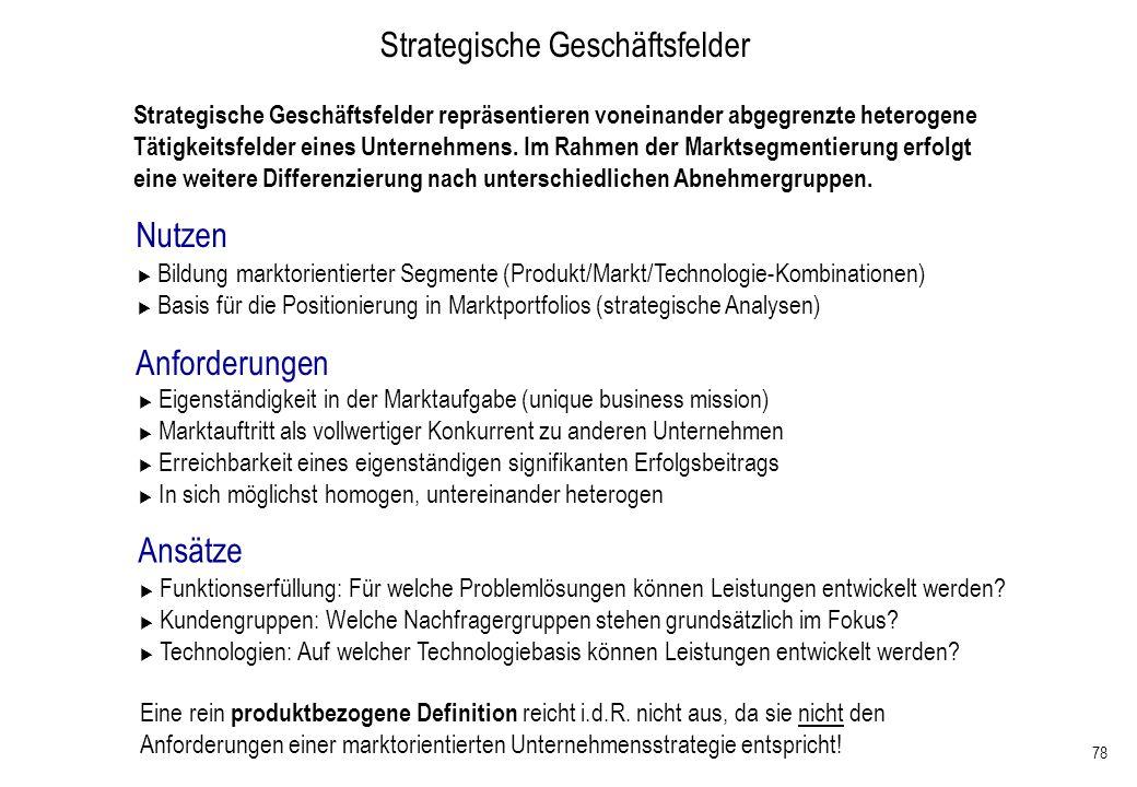 Strategische Geschäftsfelder