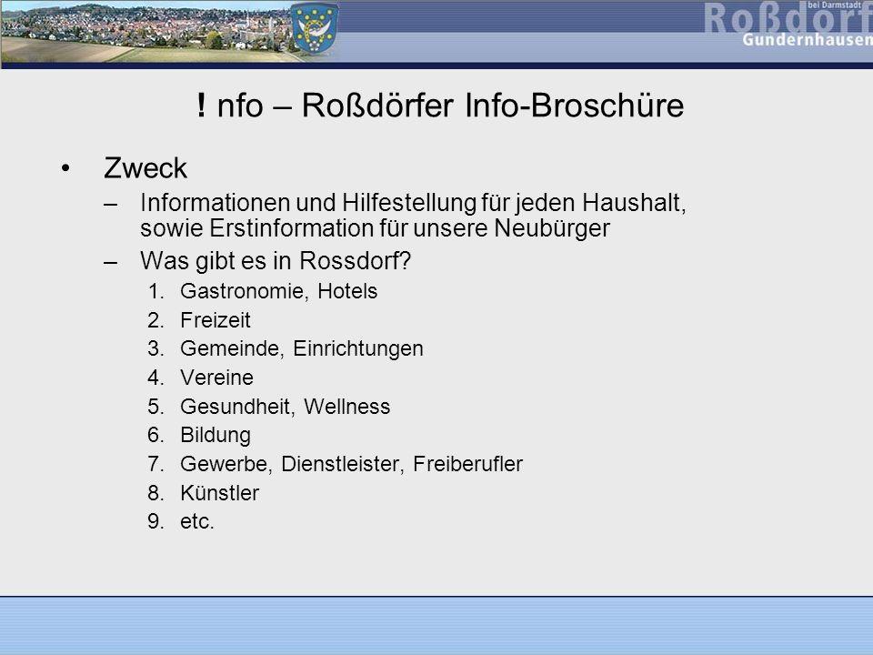 ! nfo – Roßdörfer Info-Broschüre