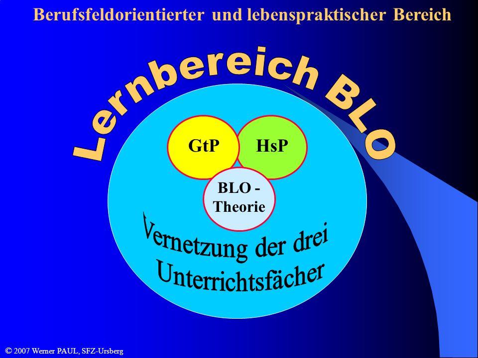 Lernbereich BLO Berufsfeldorientierter und lebenspraktischer Bereich