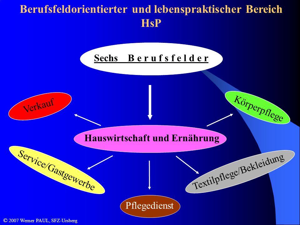 Berufsfeldorientierter und lebenspraktischer Bereich HsP