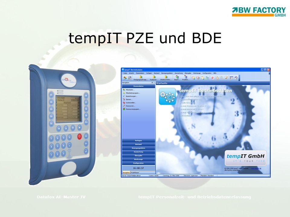 tempIT PZE und BDE Datafox AE-Master IV