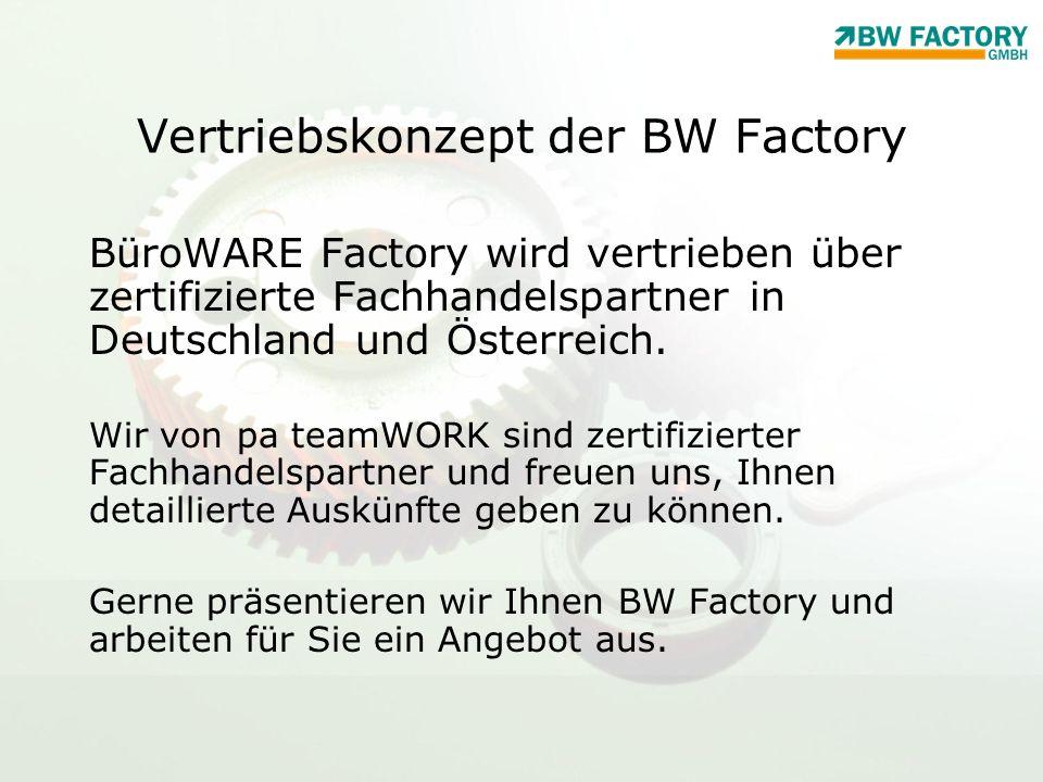 Vertriebskonzept der BW Factory