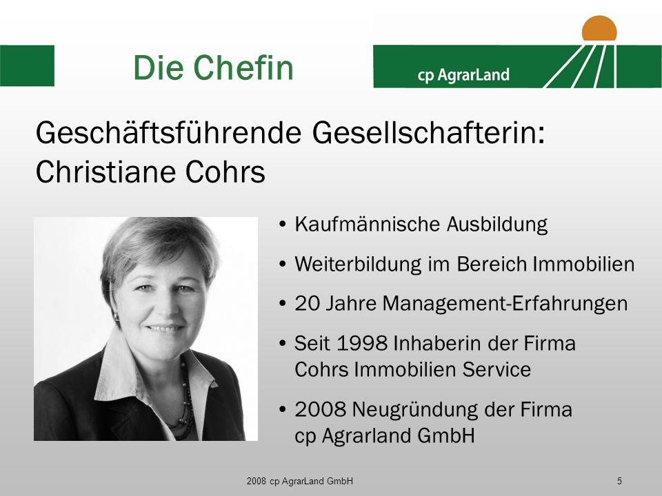 Die Chefin Geschäftsführende Gesellschafterin: Christiane Cohrs