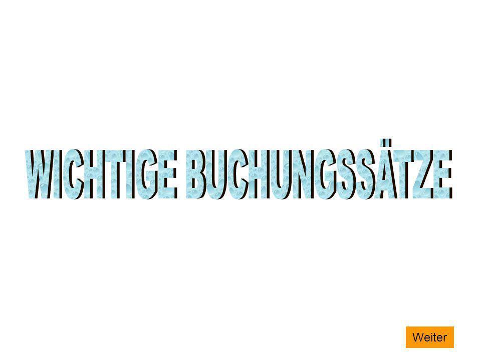 WICHTIGE BUCHUNGSSÄTZE