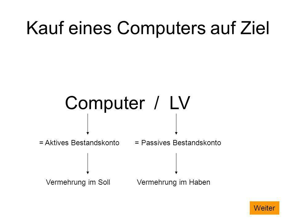 Kauf eines Computers auf Ziel