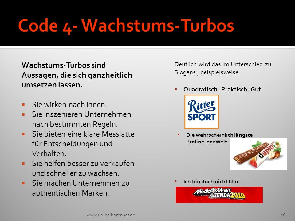 Code 4- Wachstums-Turbos