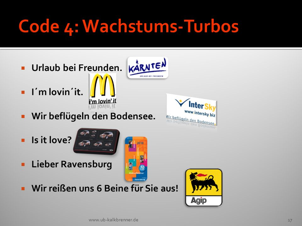 Code 4: Wachstums-Turbos