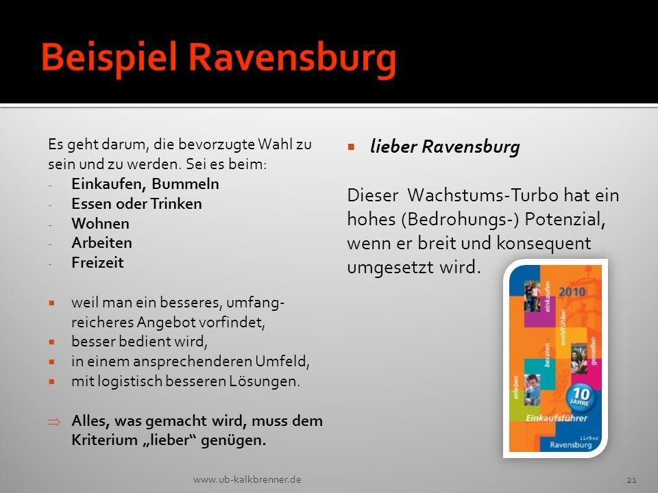 Beispiel Ravensburg lieber Ravensburg Dieser Wachstums-Turbo hat ein