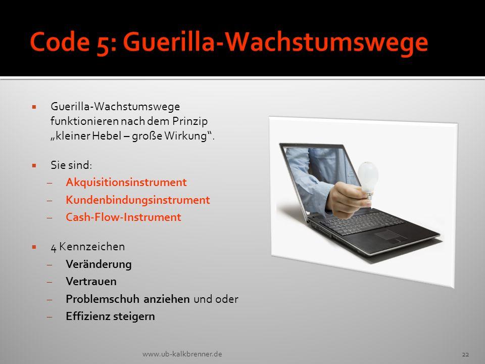 Code 5: Guerilla-Wachstumswege