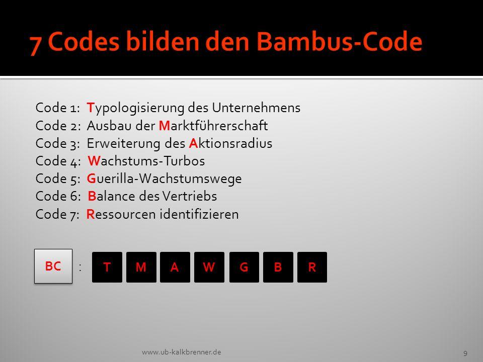 7 Codes bilden den Bambus-Code