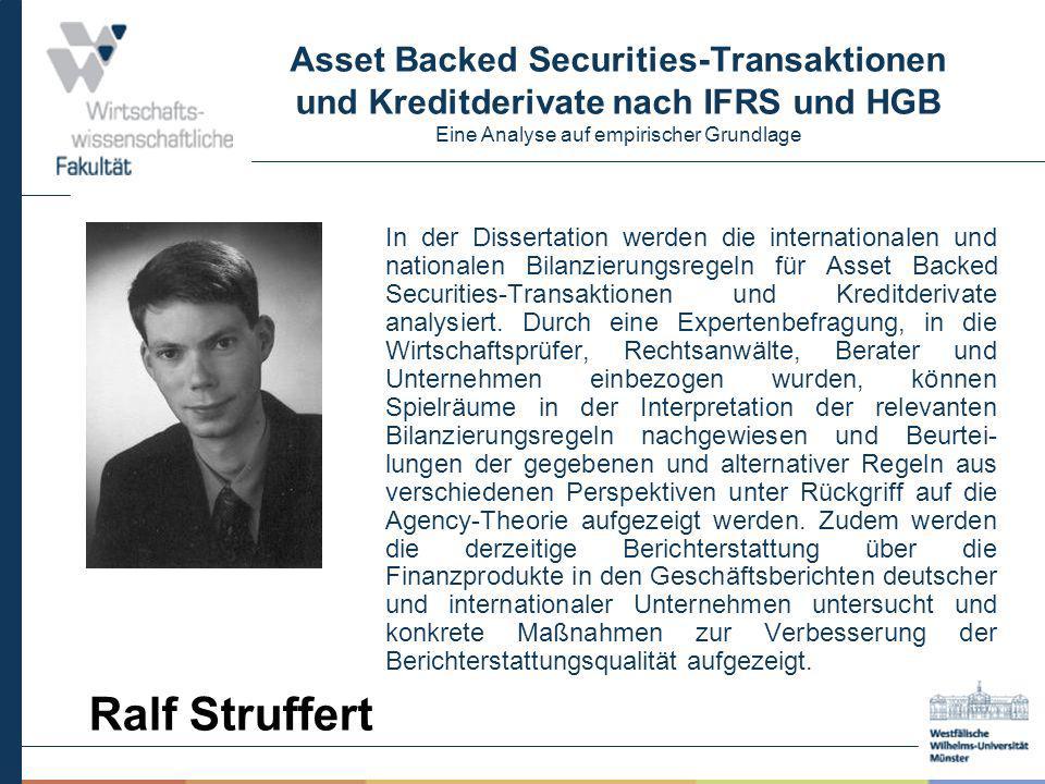Asset Backed Securities-Transaktionen und Kreditderivate nach IFRS und HGB Eine Analyse auf empirischer Grundlage