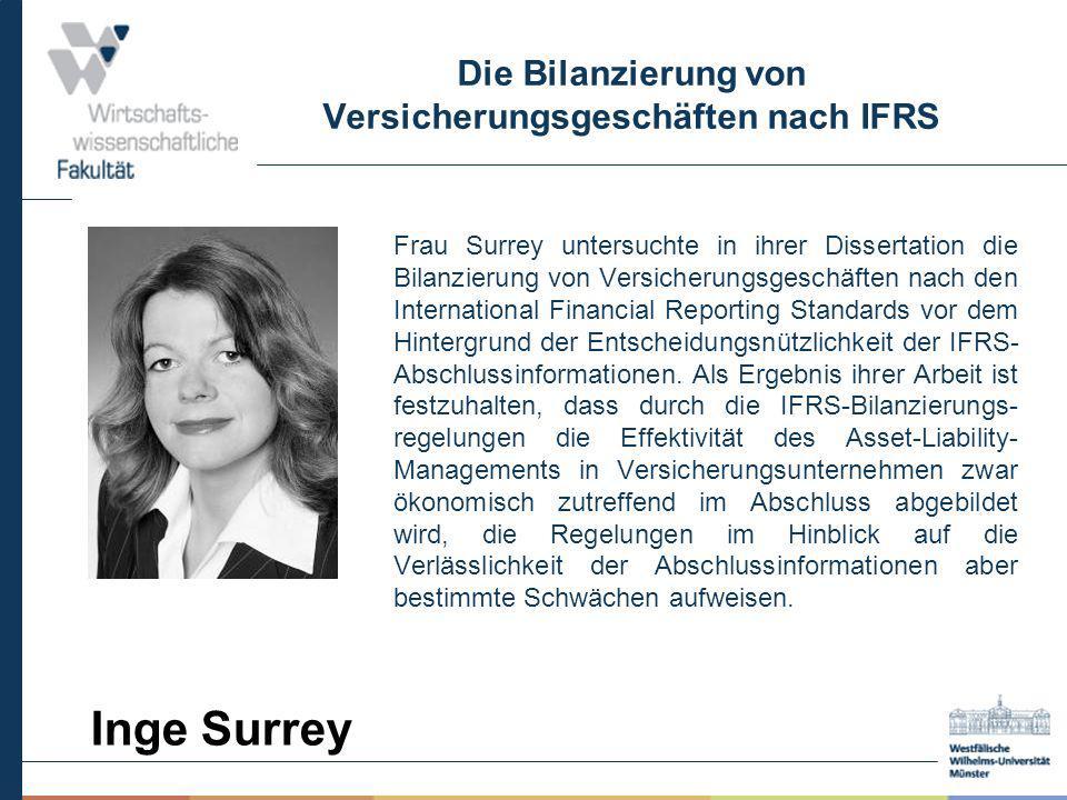 Die Bilanzierung von Versicherungsgeschäften nach IFRS