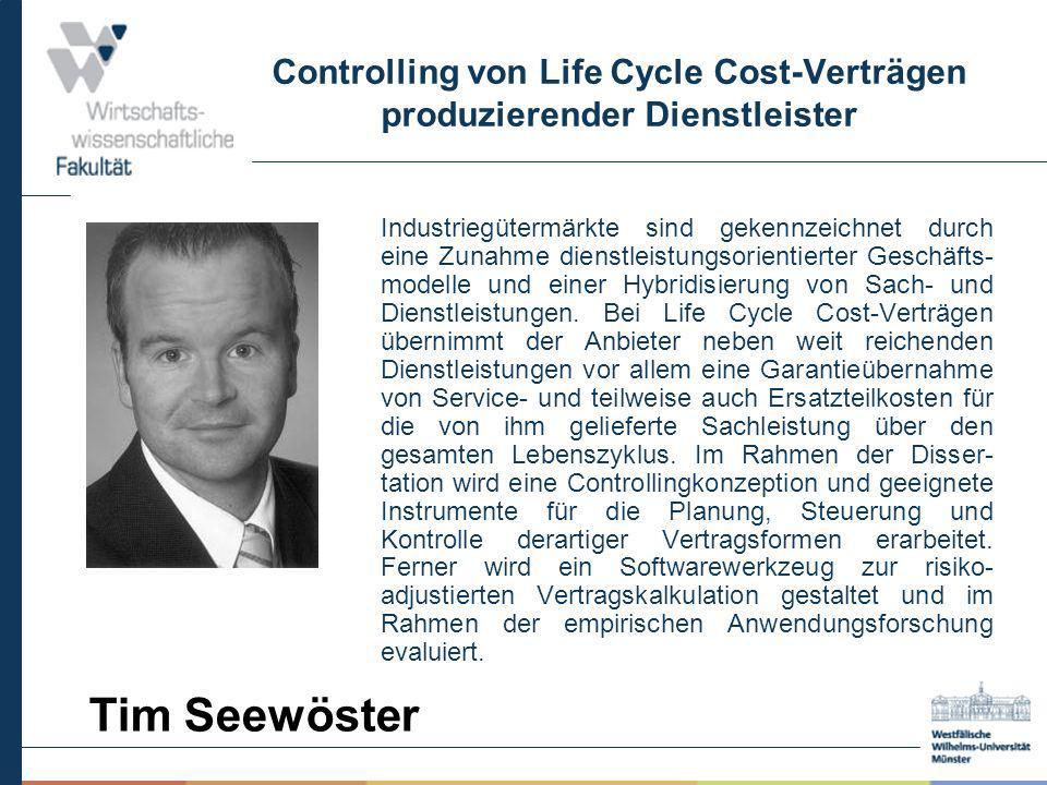 Controlling von Life Cycle Cost-Verträgen produzierender Dienstleister