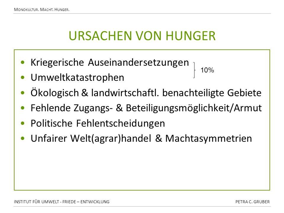 Ursachen von Hunger Kriegerische Auseinandersetzungen