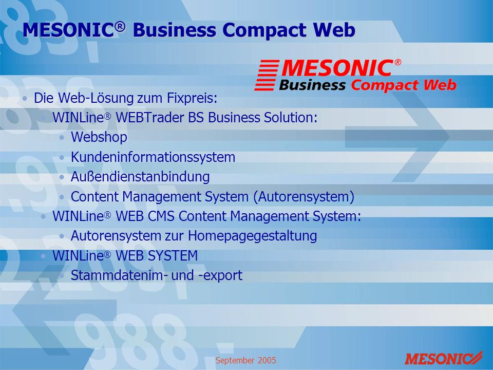 MESONIC® Business Compact Web