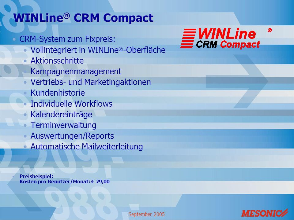 WINLine® CRM Compact CRM-System zum Fixpreis: