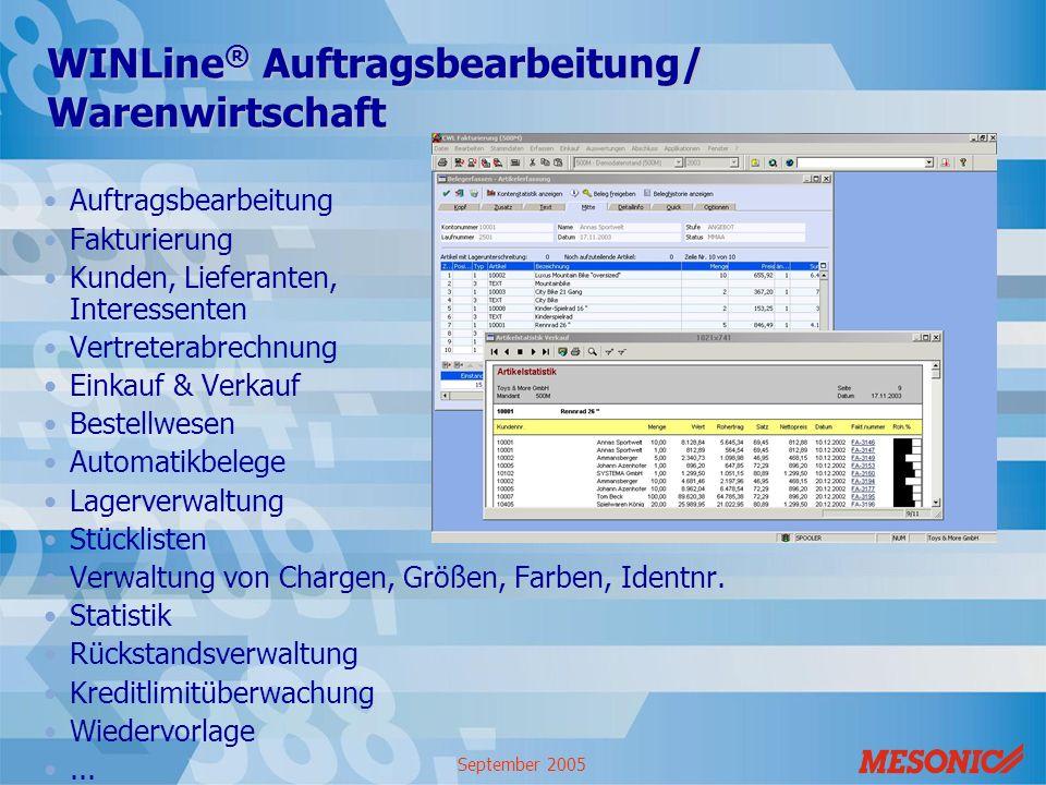 WINLine® Auftragsbearbeitung/ Warenwirtschaft