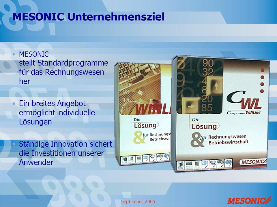 MESONIC Unternehmensziel