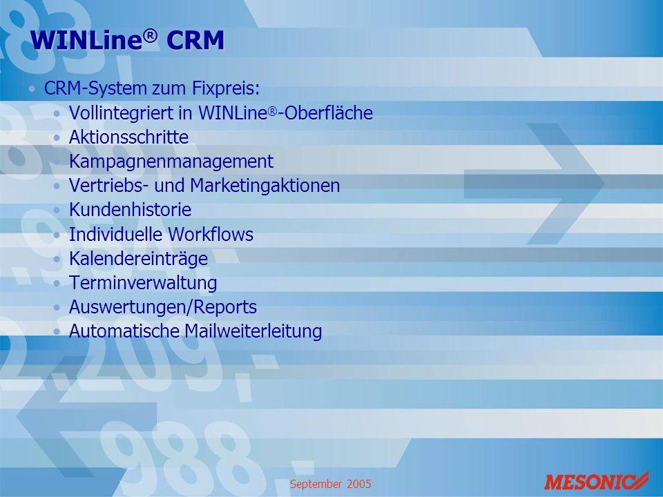 WINLine® CRM CRM-System zum Fixpreis: