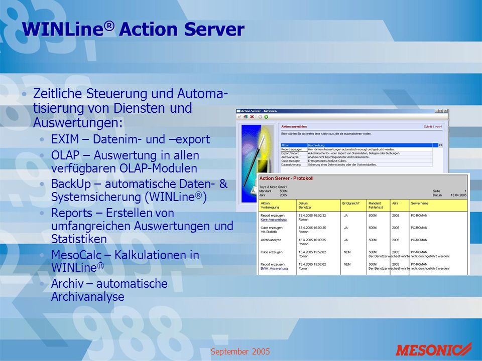 WINLine® Action Server