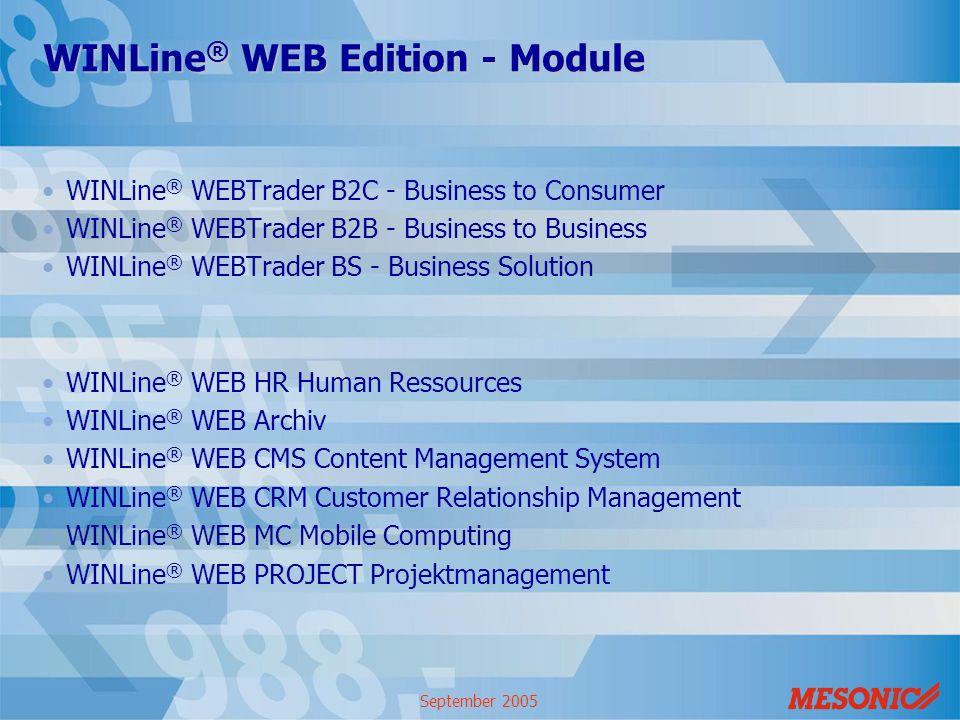 WINLine® WEB Edition - Module
